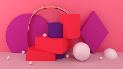 Abstract 3d background with geometric shapes.