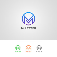 Professional M Letter Logo All Kinds Business