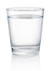 Glass of drinking water isolated on a white background
