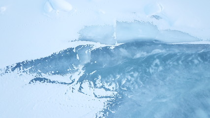 Eisplatte Fluss