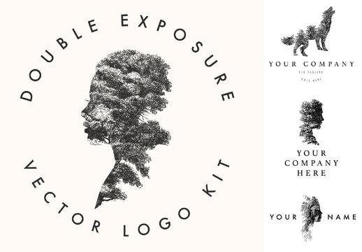 Double Exposure Logo Layout Kit