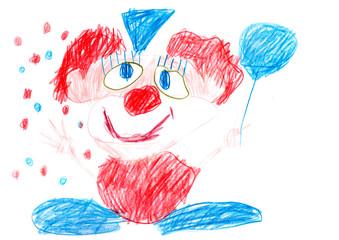 Charlie der frech Clown wünscht eine lustigen Karnevalszeit