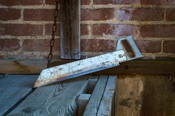 Old Rusty Tool Saw