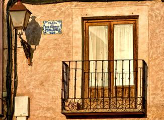 Balcon y placa en Calles de Riaza