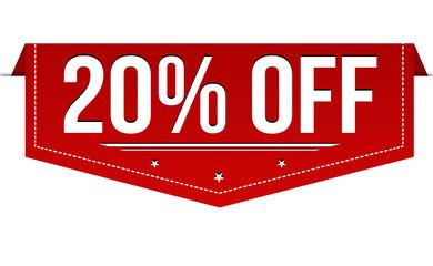 20% off banner design