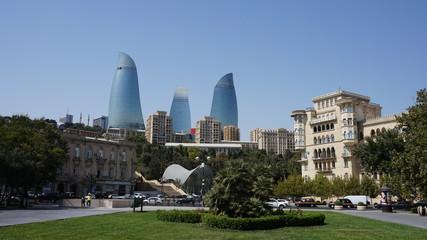 Im Zentrum von Baku, Aserbaidschan