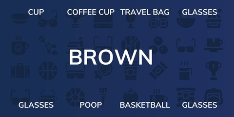 brown icon set