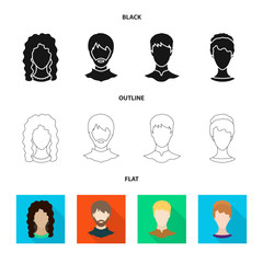 Vector illustration of professional and photo sign. Set of professional and profile stock vector illustration.