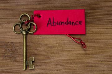Key to abundance
