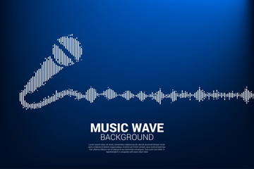 Sound wave microphone icon Equalizer background. karaoke graphic visual style concept