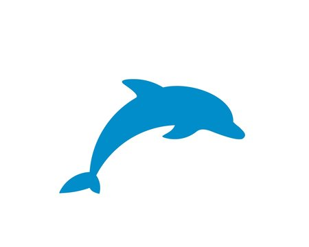 Dolphin vector silhouette