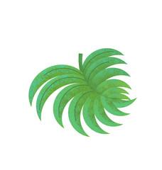 cartoon scene with leaf nature on white background - illustration for children