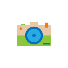 Brazilian carnival, camera color icon. Element of Brazilian carnival icon for mobile concept and web apps. Detailed Brazilian carnival, camera icon can be used for web
