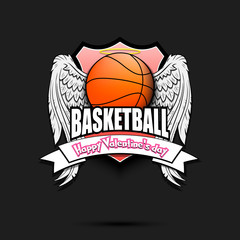 Happy Valentine day and Basketball