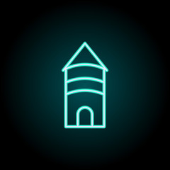 building icon. Elements of Bulding Landmarks in neon style icons. Simple icon for websites, web design, mobile app, info graphics