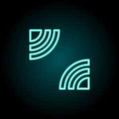 Signal sign icon. Elements of Image in neon style icons. Simple icon for websites, web design, mobile app, info graphics