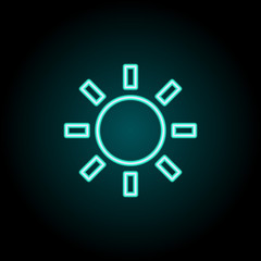 Sunny sign icon. Elements of Image in neon style icons. Simple icon for websites, web design, mobile app, info graphics