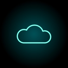 Cloud sign icon. Elements of Image in neon style icons. Simple icon for websites, web design, mobile app, info graphics