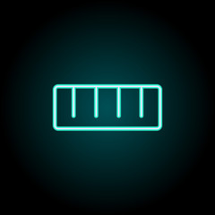 Ruler sign icon. Elements of Image in neon style icons. Simple icon for websites, web design, mobile app, info graphics