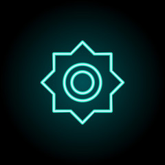 Brightness sign icon. Elements of Image in neon style icons. Simple icon for websites, web design, mobile app, info graphics