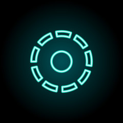 Filter sign icon. Elements of Image in neon style icons. Simple icon for websites, web design, mobile app, info graphics