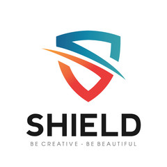 Secure shield with Initial S logo Vector