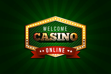 Welcome Online Casino Concept