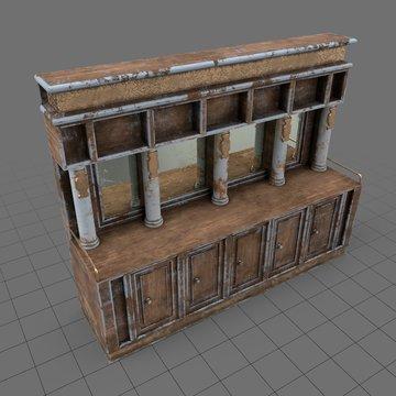 Western bar cabinet