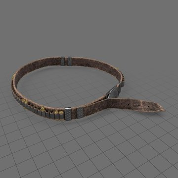Western gunslinger belt