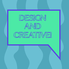 Conceptual hand writing showing Design And Creative. Business photo showcasing involving use imagination or ideas create something Blank Deformed Color Round Shape with Small Circles