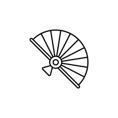 Chinese, fan icon. Simple thin line, outline vector of China icons for UI and UX, website or mobile application