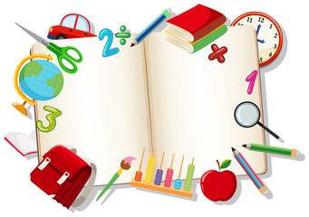 Open book with learning element