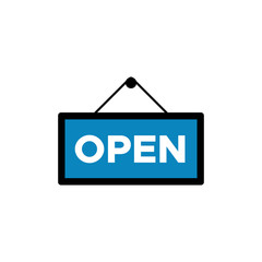 Tag open icon vector
