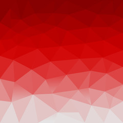 Red white polygonal