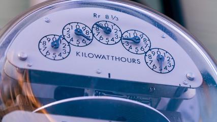 Close of of Utility Meter, filmed in 4K RAW Wall mural