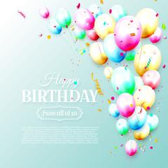 Birthday balloons template