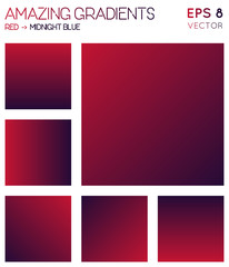 Colorful gradients in red, midnight blue color tones. Adorable gradient background, juicy vector illustration.