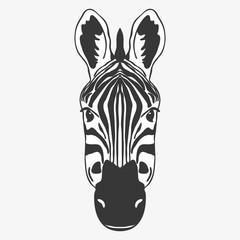 ZEBRA head face illustration vector