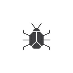 Bug, computer virus icon vector