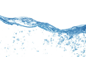water splash isolated on white background, water Wall mural
