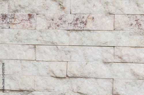 Pared O Muro De Piedra Blanca Clara Con Textura Tipo Marmol