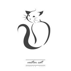 vector cat, logo
