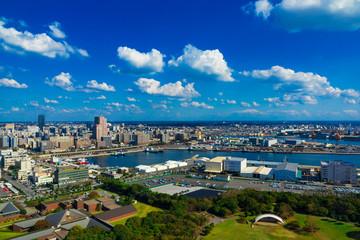 (千葉県ー湾岸風景)展望台から望む千葉港1