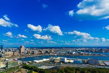 (千葉県ー湾岸風景)展望台から望む千葉港2