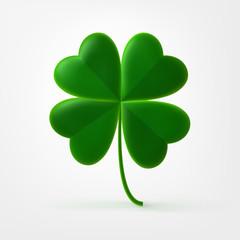 Vector four-leaf shamrock clover icon