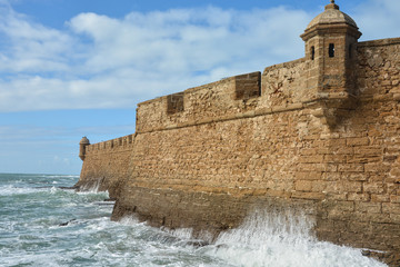 The fortress San Sebastian (Castillo de San Sebastian) in Cadiz.