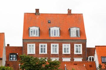 Red Brick Houses in Helsingor Denmark