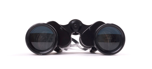 Vintage binoculars isolated