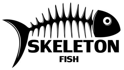 Symbol of Skeleton fish.