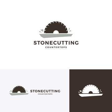 stone cutting and countertop logo vector icon